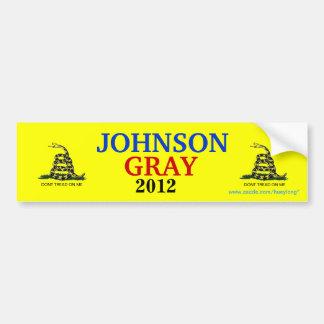 JOHNSON/GRAY GADSDEN FLAG CAR BUMPER STICKER