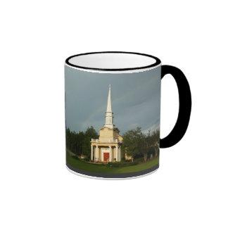 Johnson Grove Church of Christ - Steeple Rainbow Ringer Coffee Mug