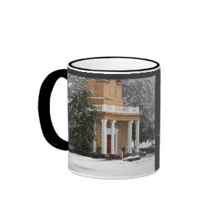 Johnson Grove Church of Christ - Winter Scene Ringer Coffee Mug