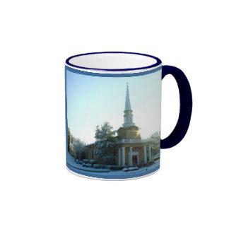 Johnson Grove Church of Christ - Winter Sunrise Ringer Coffee Mug
