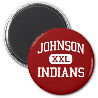 Johnson - indios - joven - Cheyenne Wyoming Imanes Para Frigoríficos