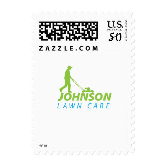 Johnson Lawn Care Postage Stamp