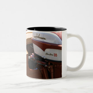 Johnson Motor, Wooden Boat Classic Two-Tone Coffee Mug