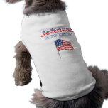Johnson para la bandera americana patriótica del c ropa de perros