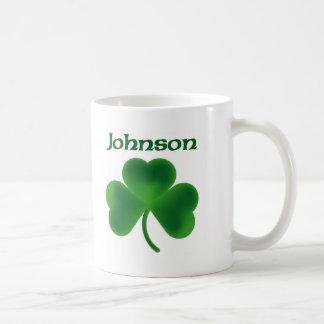 Johnson Shamrock Coffee Mug