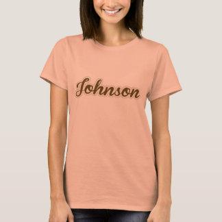 Johnson T-Shirt Brown Logo Women