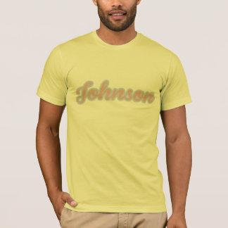 Johnson T-Shirt Pink-Blue Logo