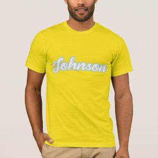 Johnson T-Shirt white-blue Logo