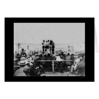 Johnson vs. Flynn Championship Boxing 1910 Card