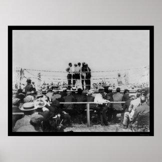 Johnson vs. Flynn Championship Boxing 1910 Poster