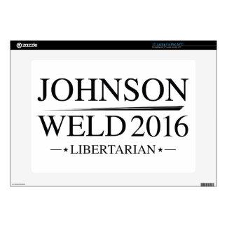 """Johnson Weld 2016 Skin For 15"""" Laptop"""