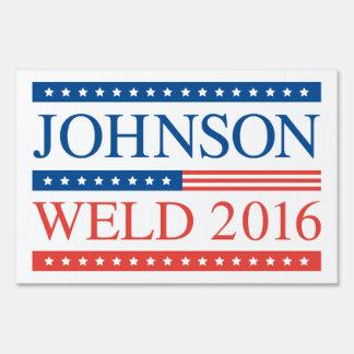 Johnson Weld 2016 Yard Sign