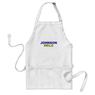 Johnson-Weld dark text Adult Apron