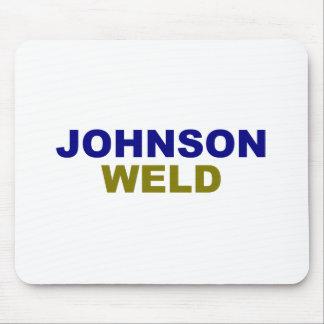Johnson-Weld dark text Mouse Pad