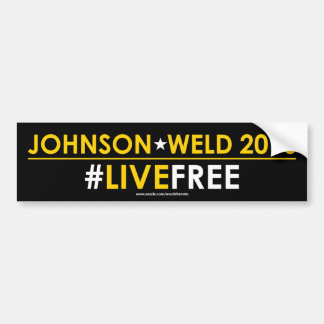 Johnson/Weld Libertarian Bumper Sticker #LIVEFREE