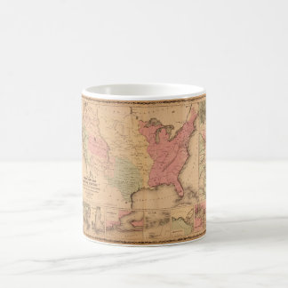 Johnson's Illustrated Military U.S. Map (1862) Coffee Mug