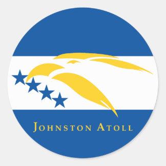 Johnston Atoll Flag Classic Round Sticker