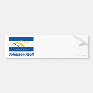 Johnston Atoll Flag with Name Car Bumper Sticker