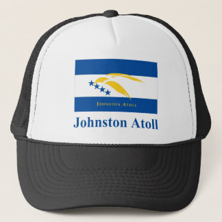 Johnston Atoll Flag with Name Trucker Hat