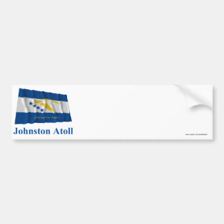 Johnston Atoll Waving Flag with Name Bumper Sticker