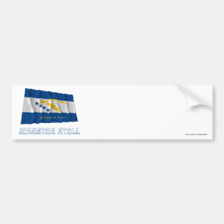 Johnston Atoll Waving Flag with Name Car Bumper Sticker