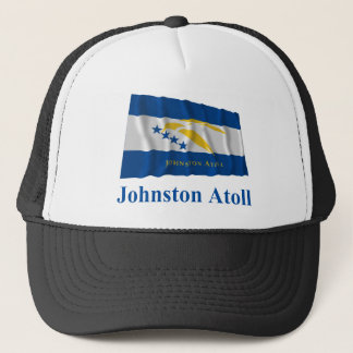 Johnston Atoll Waving Flag with Name Trucker Hat