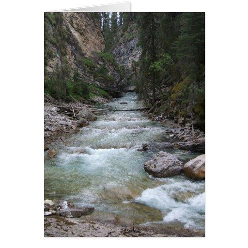 Johnston Canyon Step Falls Card