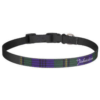 Johnston clan Plaid Scottish tartan Pet Collar