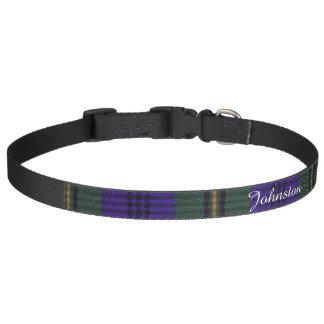 Johnston clan Plaid Scottish tartan Pet Collar