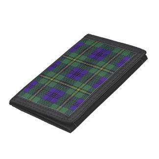 Johnston clan Plaid Scottish tartan Tri-fold Wallets