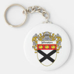 Johnston Coat of Arms/Family Crest (Mantled) Key Chains
