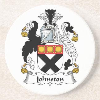 Johnston Family Crest Beverage Coaster