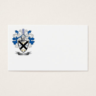 Johnston Family Crest Coat of Arms Business Card