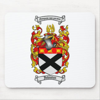 JOHNSTON FAMILY CREST -  JOHNSTON COAT OF ARMS MOUSE PAD