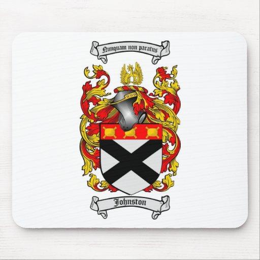 JOHNSTON FAMILY CREST -  JOHNSTON COAT OF ARMS MOUSE MAT