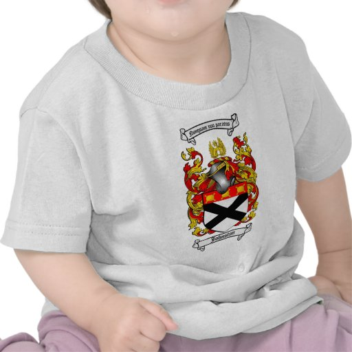 JOHNSTON FAMILY CREST -  JOHNSTON COAT OF ARMS TEES