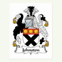 Johnston Family Crest Postcard