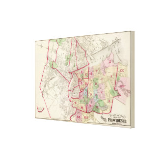 Johnston Rhode Island Map Canvas Print