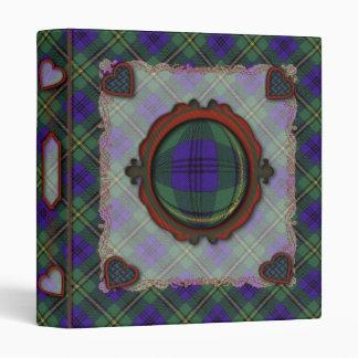 Johnston Scottish clan tartan Vinyl Binder