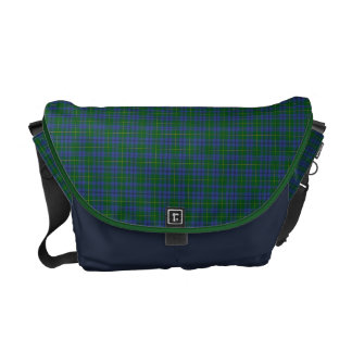 Johnston Tartan Plaid Messenger Bag