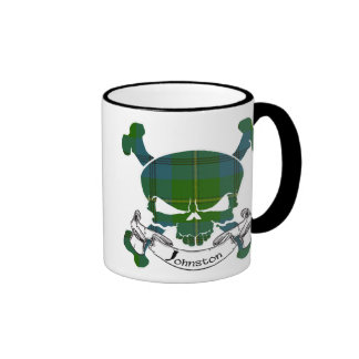 Johnston Tartan Skull Ringer Mug