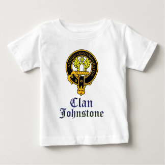 Johnstone scottish crest and tartan clan name baby T-Shirt