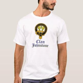 Johnstone scottish crest and tartan clan name T-Shirt
