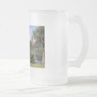 Johnstown castle 16 oz frosted glass beer mug