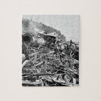 Johnstown Flood Train Wreck Vintage 1889 Jigsaw Puzzle