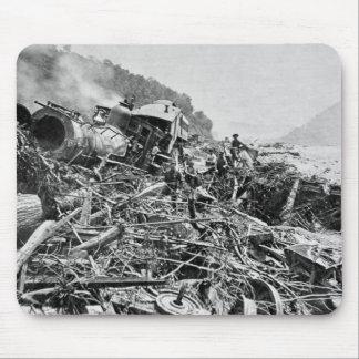 Johnstown Flood Train Wreck Vintage 1889 Mouse Pad