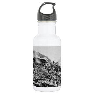 Johnstown Flood Train Wreck Vintage 1889 Stainless Steel Water Bottle