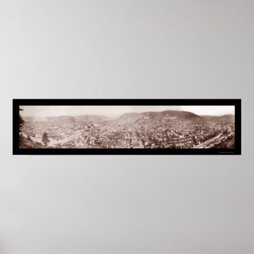 Johnstown, foto 1904 del PA Póster