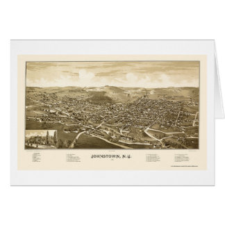 Johnstown, NY Panoramic Map - 1888 Card