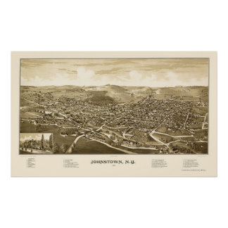 Johnstown, NY Panoramic Map - 1888 Poster